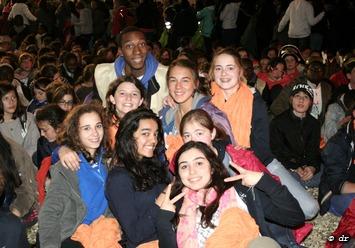 Les jeunes de la paroisse Don Bosco au  FRAT : 12000 porteurs d'espérance