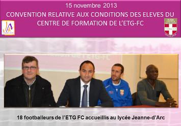 Club de foot de Thonon et Lycée Jeanne d'Arc : convention signée !