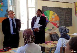 L'attaché de l'Ambassade de France rend visite à l'établissement salésien de Kenitra