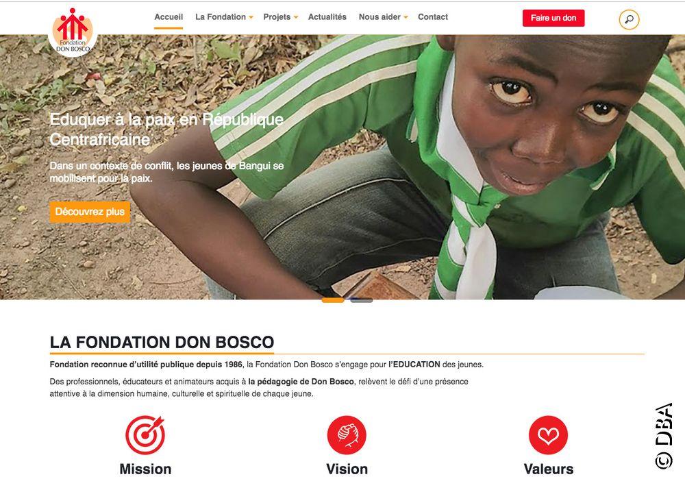 Grâce au nouveau site de la Fondation Don Bosco, il est possible de suivre ses dons