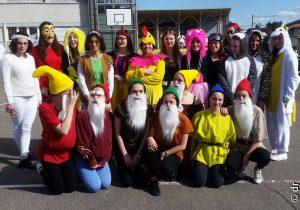 Carnaval et cross solidaire au lycée Jean-Baptiste d'Allard à Montbrison