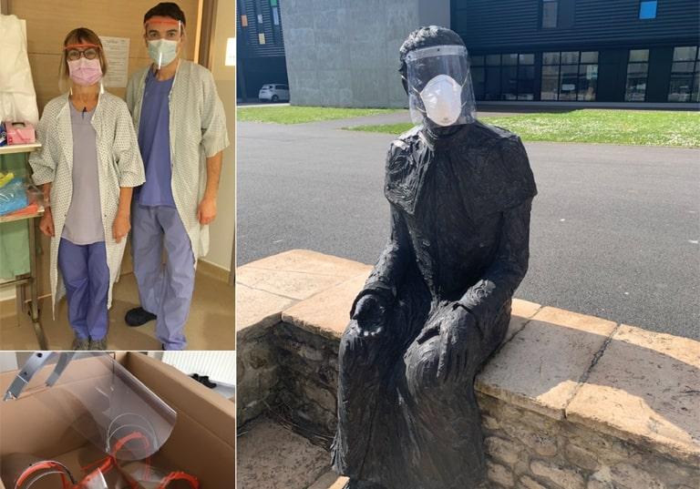 Création de masques dans l'esprit créatif et solidaire de l'Institut Lemonnier de Caen