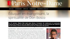 Le père Xavier Ernst évoque la spiritualité salésienne dans « Paris Notre-Dame »