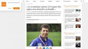 Le père Xavier de Verchère interrogé par « La Croix » sur la dimension spirituelle du scoutisme