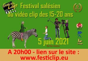Participez au Festiclip ce samedi 5 juin à 20h sur www.festiclip.eu