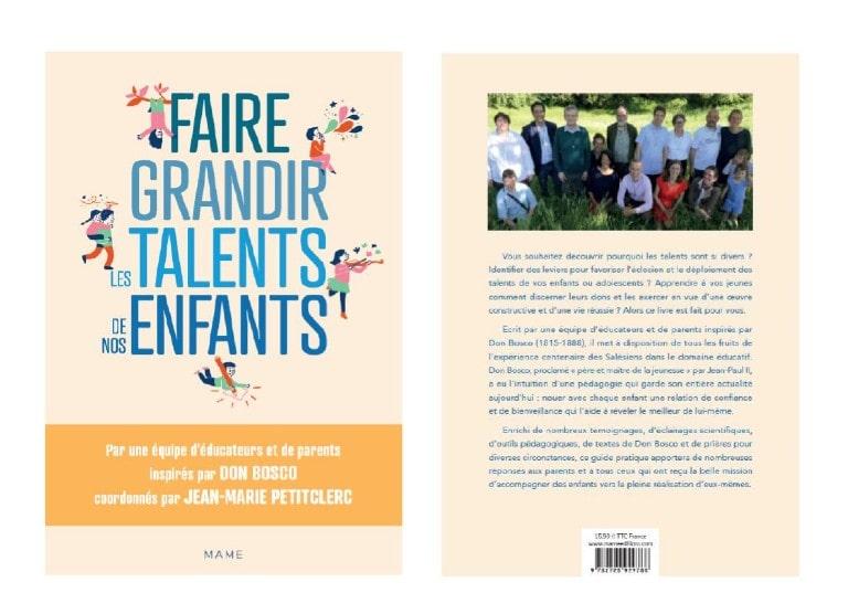 «Faire grandir les talents de nos enfants» : aux Editions Mame, un ouvrage écrit par un collectif de membres de la famille salésienne de Don Bosco